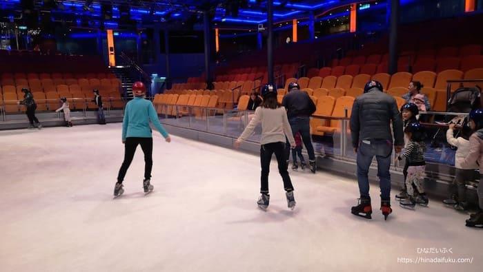 クルーズ内アイススケート