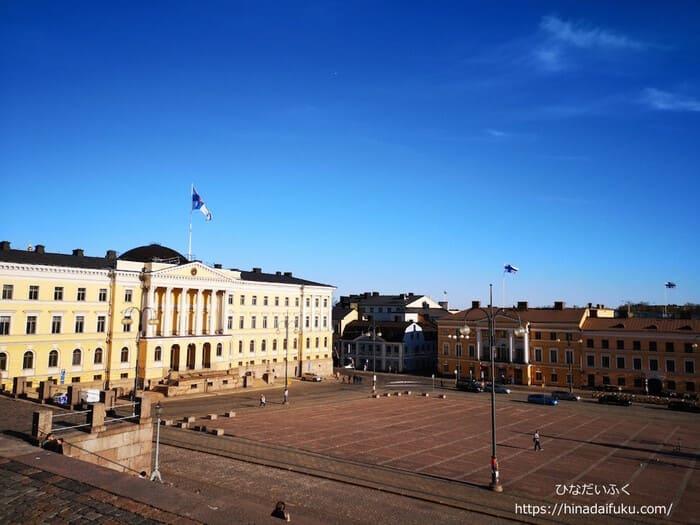 ヘルシンキ大聖堂から見下ろした風景