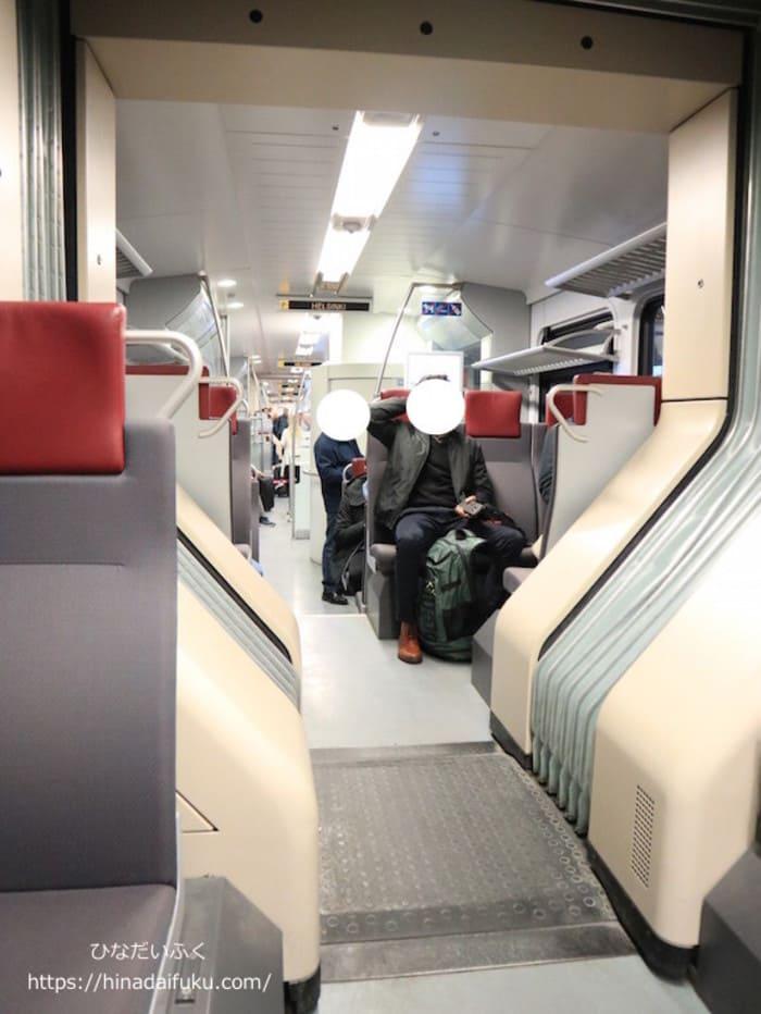 ヘルシンキ鉄道座席