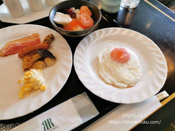 リーガロイヤルクラブフロアの朝食