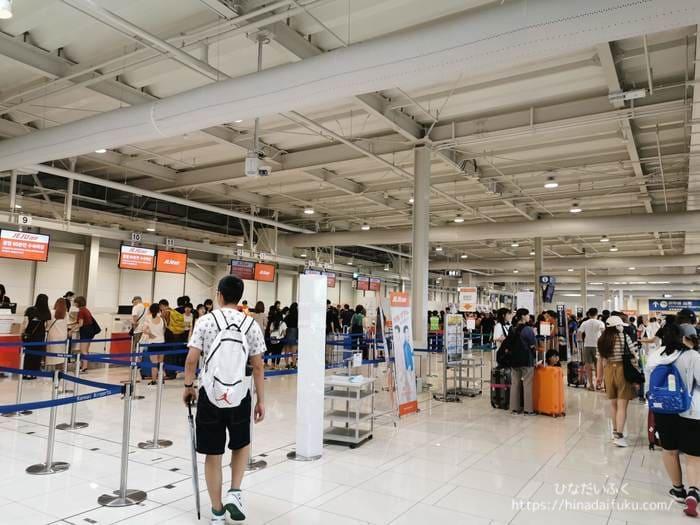関空第二ターミナル手荷物カウンター