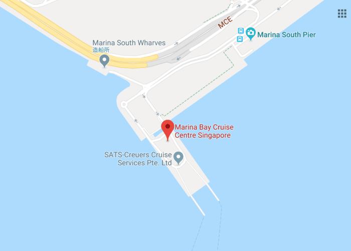 シンガポールクルーズ乗船場所拡大