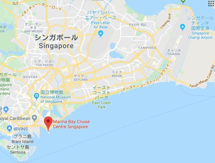 シンガポールクルーズ乗船場所