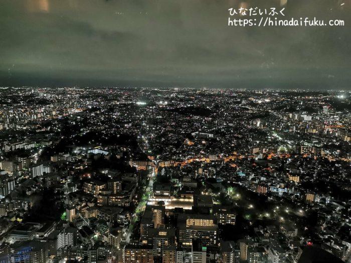 横浜ロイヤルパークホテルラウンジからの夜景
