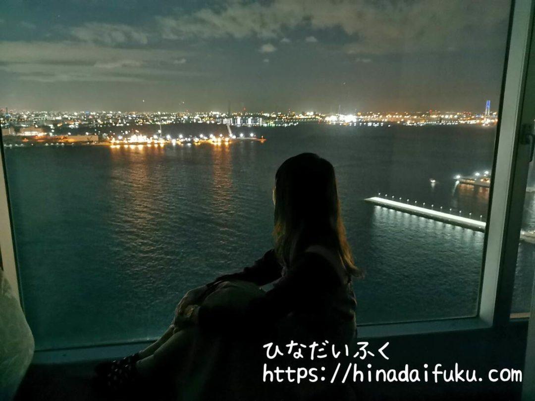 ヨコハマグランドインターコンチネンタル部屋からの夜景2
