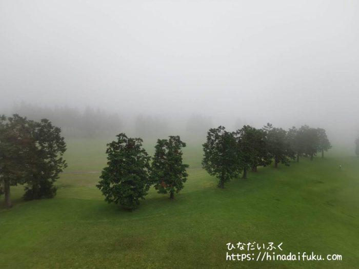箱根湯の花プリンスホテルゴルフ場曇り