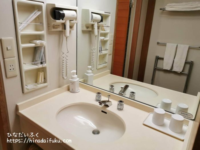 箱根湯の花プリンスホテル洗面所