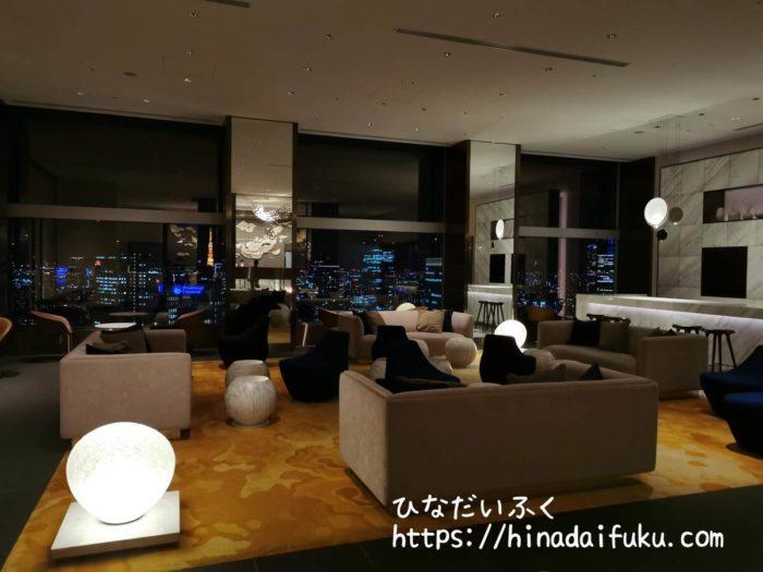 ザ・プリンスギャラリー東京紀尾井町夜のロビー