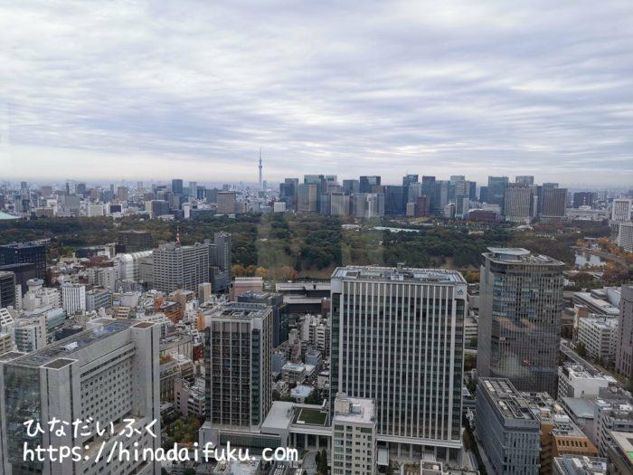 ザ・プリンスギャラリー東京紀尾井町朝食会場からの景色