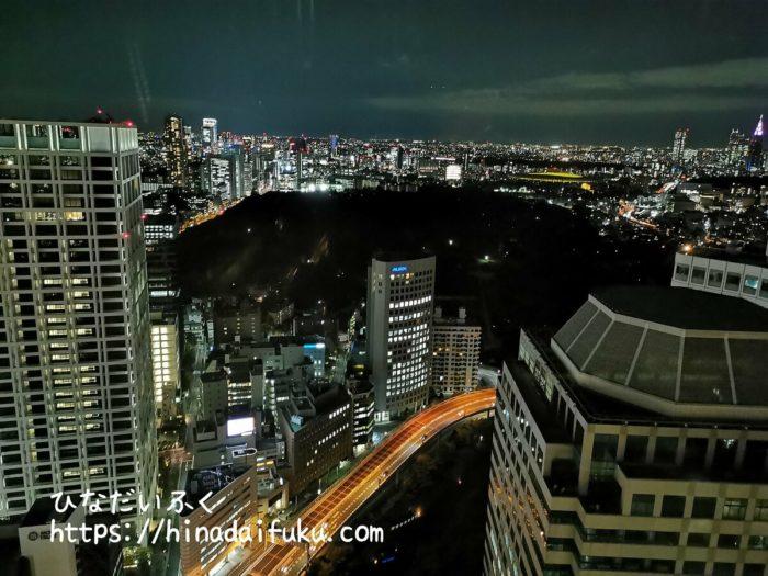 ザ・プリンスギャラリー東京紀尾井町部屋からの夜景