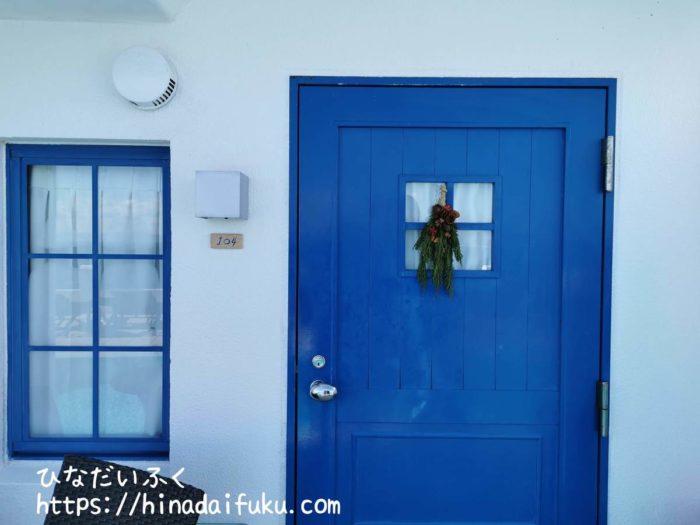 ヴィラサントリーニ部屋の入り口